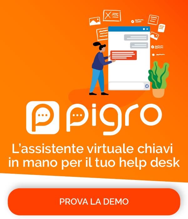 Prova la demo di Pigro online. Pronta in un minuto.