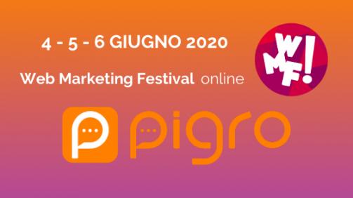 pigro al web marketing festival 2020