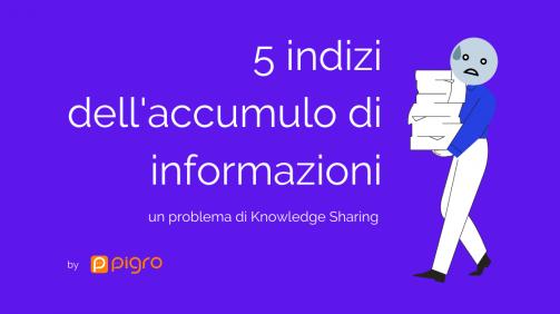 Pigro ed il knowledge sharing