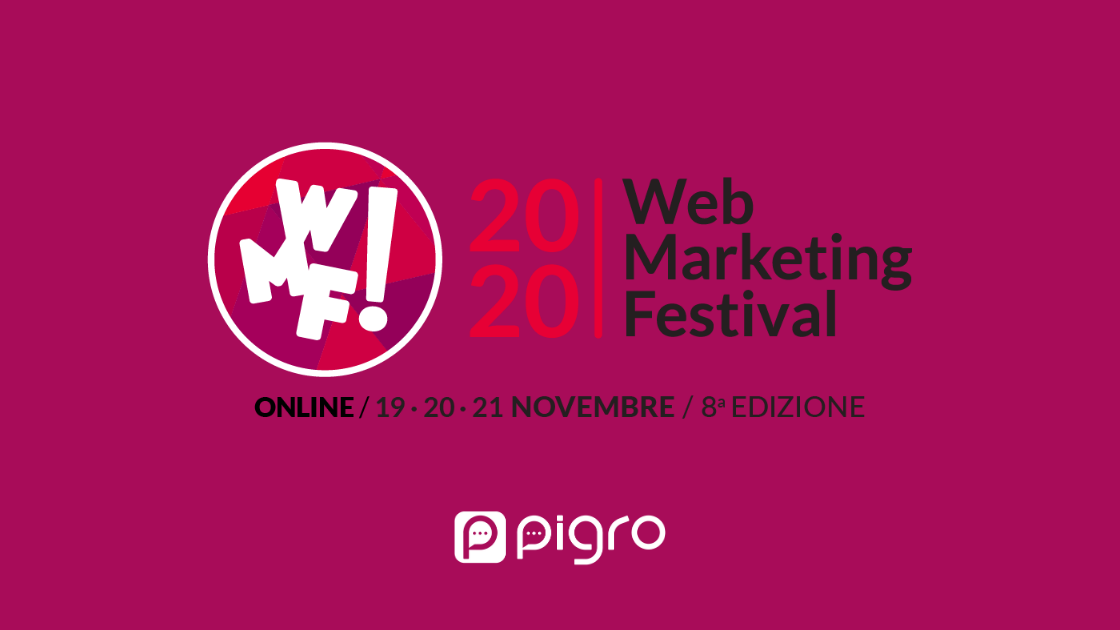 web marketing festival 19, 20 e 21 novembre 2020